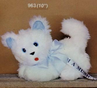 Musical White Cat