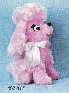 Sitting Pink Poodle
