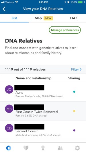 23andme relatives