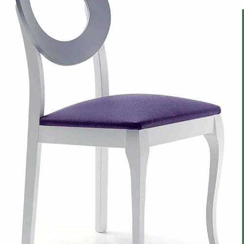 Silla moderna respaldo redondo 1321