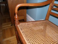 Salvaging a damaged caned chair | Mary Olive Design