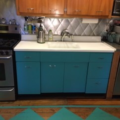 Buy Old Kitchen Cabinets Electric Appliances Redo Okay The Fridge Comes Too Mary Olive Design I Have A Vintage Metal Cabinet
