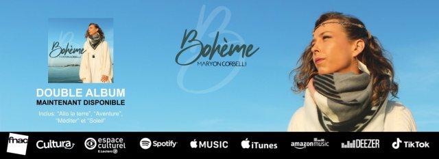 Maryon Corbelli - Album Boheme - Maintenant disponible
