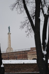 """Monument of """"the Victor"""" at the Belgrade Fortress"""