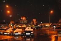Large market at nighttime