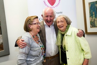 Joan McBreen, Des Kavanagh and Margaret Irwin West at the launch of 'The Mountain Ash' broadside at the 38th Clifden Arts Festival 2015. Aoife Herriott Photography