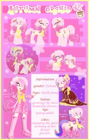 Autumn Orchid Reference Sheet. Drawn by xwhitedreamsx
