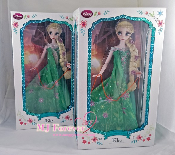 "Two 17"" Elsa Frozen Fever Limited Edition dolls. LE 5000"