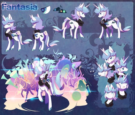 Fantasia (aka Lucid Tone) character reference - designed and drawn by Lanmana