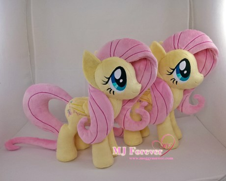 Fluttershy plushies sewn by meeee!!!!!