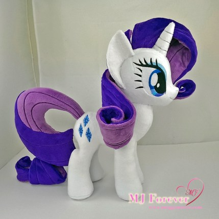 Rarity plushie sewn by meeee!!!!!! ^^