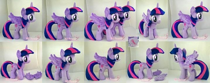 Twilight Sparkle plushie x2 sewn by meeee!!!!!