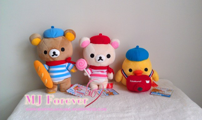 Paris Bonjour Rilakkuma plush set (sold)
