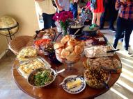 So much delicious food that everyone brought!