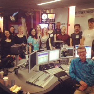 BBC London 94.9 Actors Rechoired, yes I am in the middle