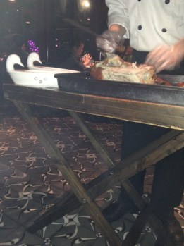 Not very clear but the chef carved for us at the table.