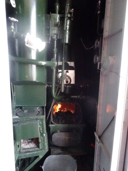How to heat the water boiler on each carriage