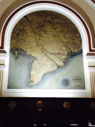 I love a map - this was on the wall of the post office.