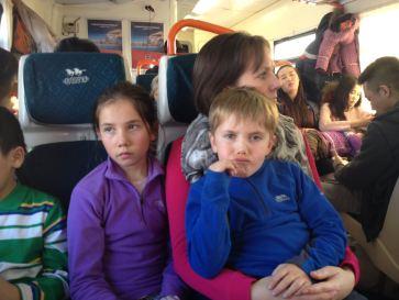 Crowded train home