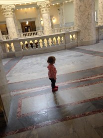 Our little graddaughter visited the capitol and charmed everyone along her way!