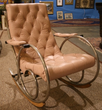 1920s rocking chair tiffany blue covers sold designer leather steel 1920 s in the style of rocker jpg