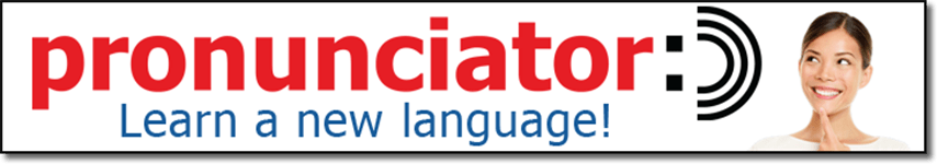 pronunciator: Learn a new language!