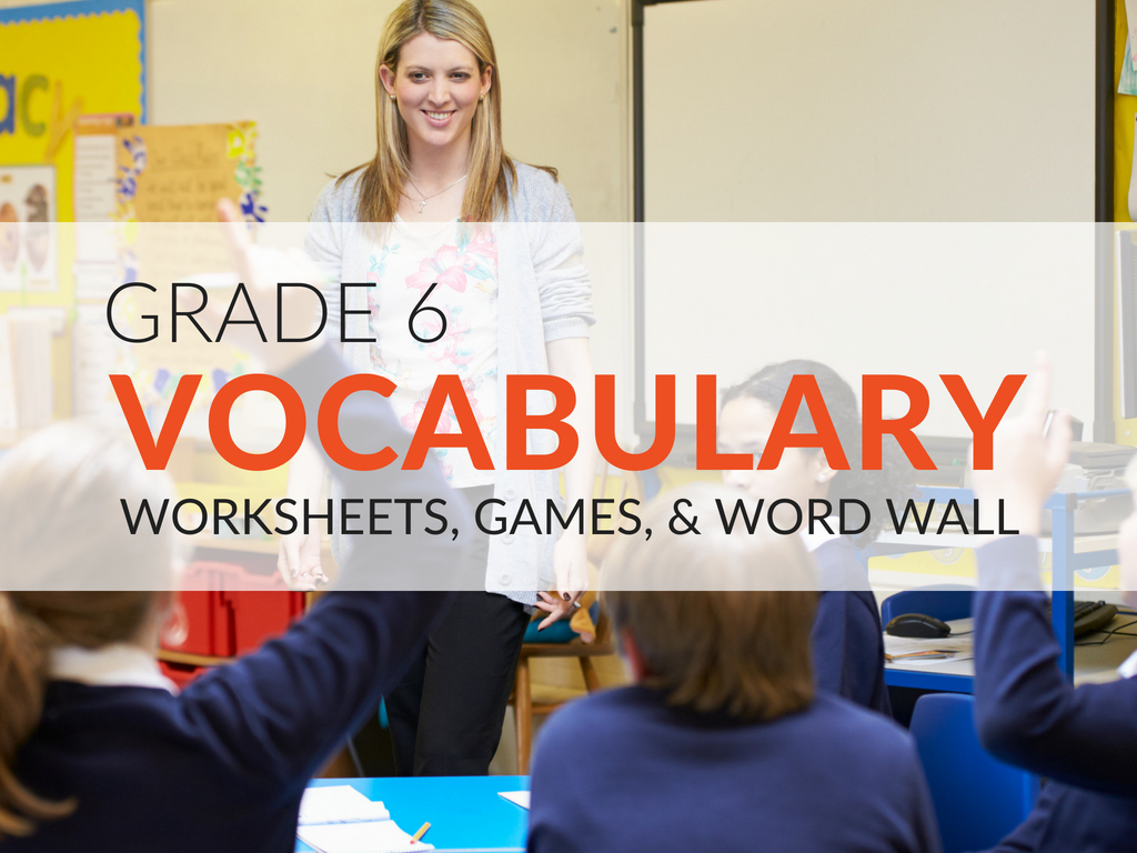 6th Grade Vocabulary Worksheets Printable