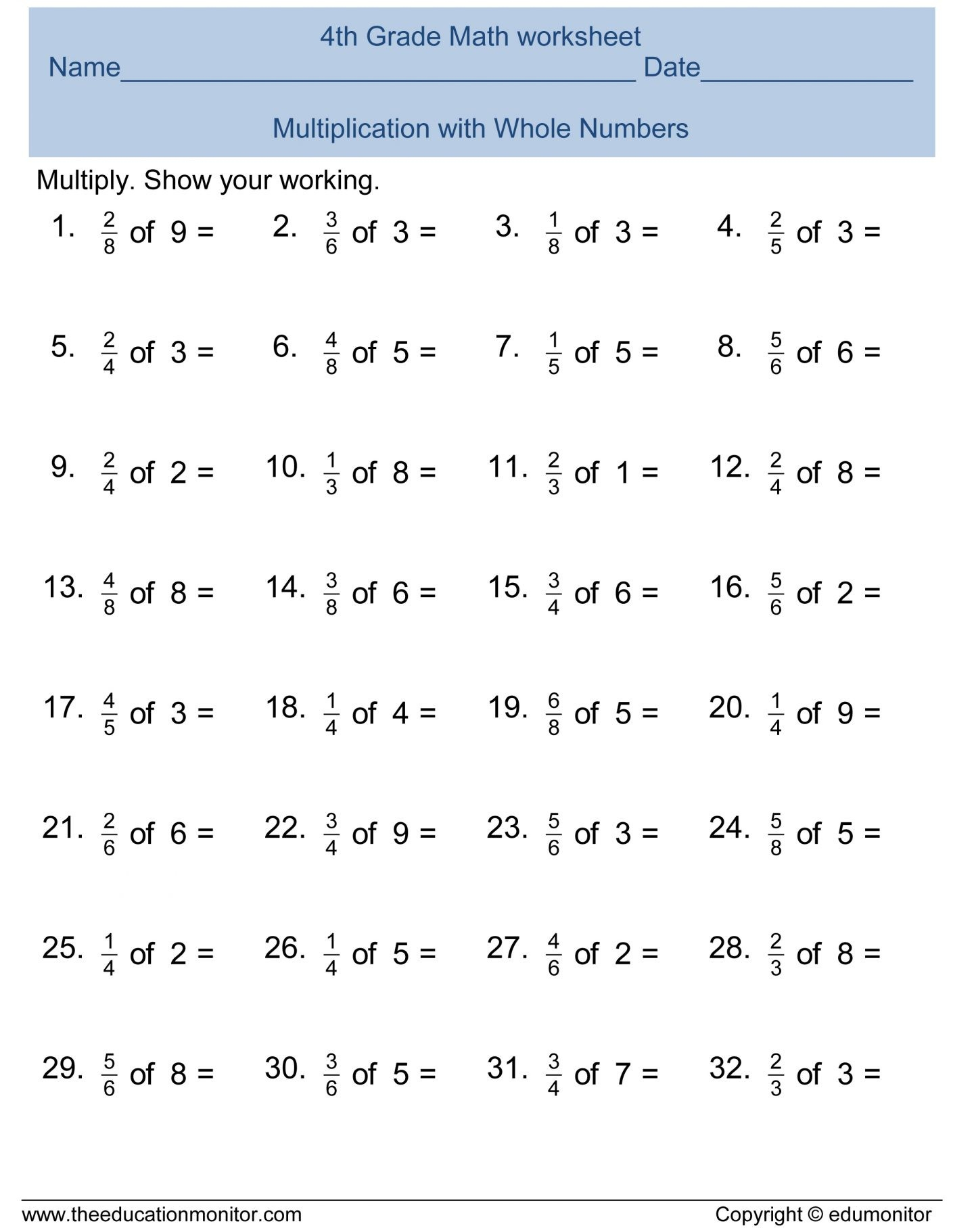 7th Grade Math Worksheets Printable With Answers