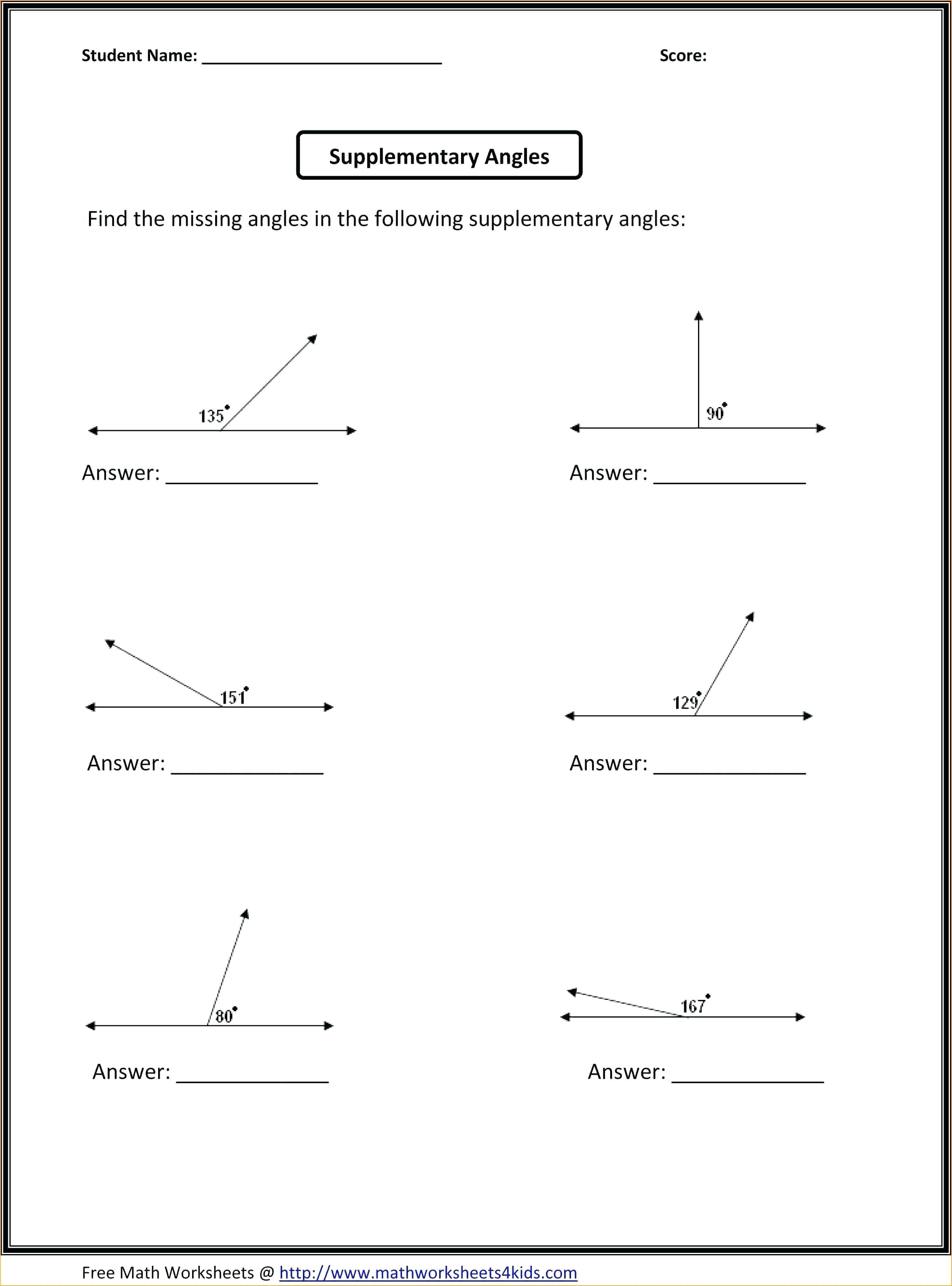 4th Grade Geometry Worksheets Printable