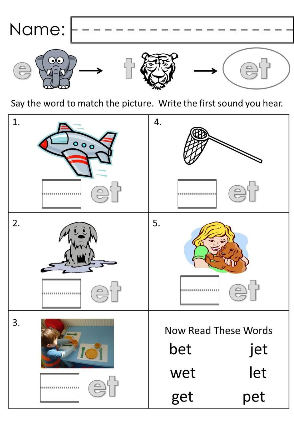 Free Printable Autism Worksheets