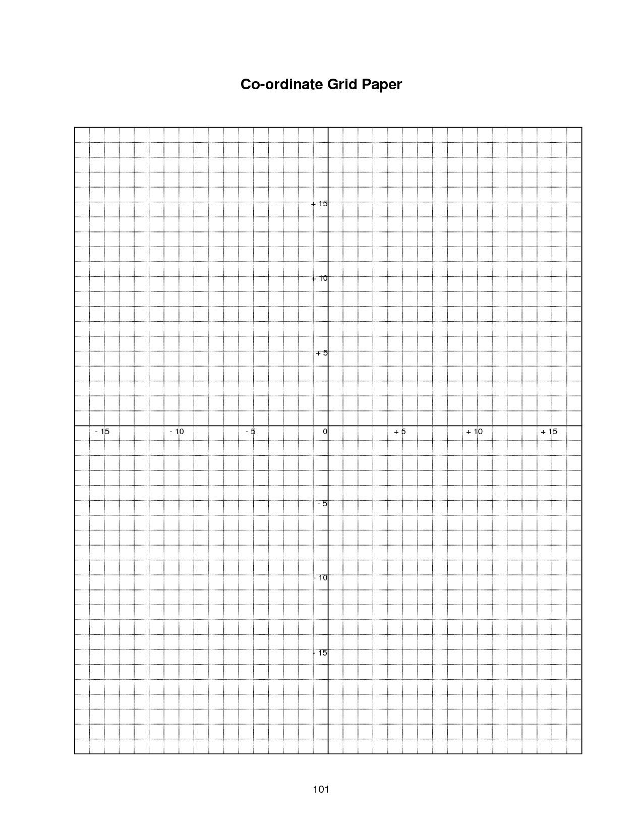 Coordinate Plane Graph Paper Worksheets