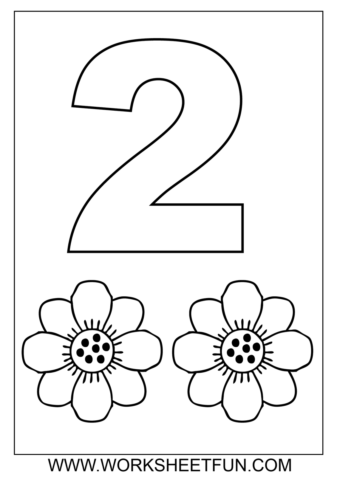 Number One Worksheet Preschool Printable Activities