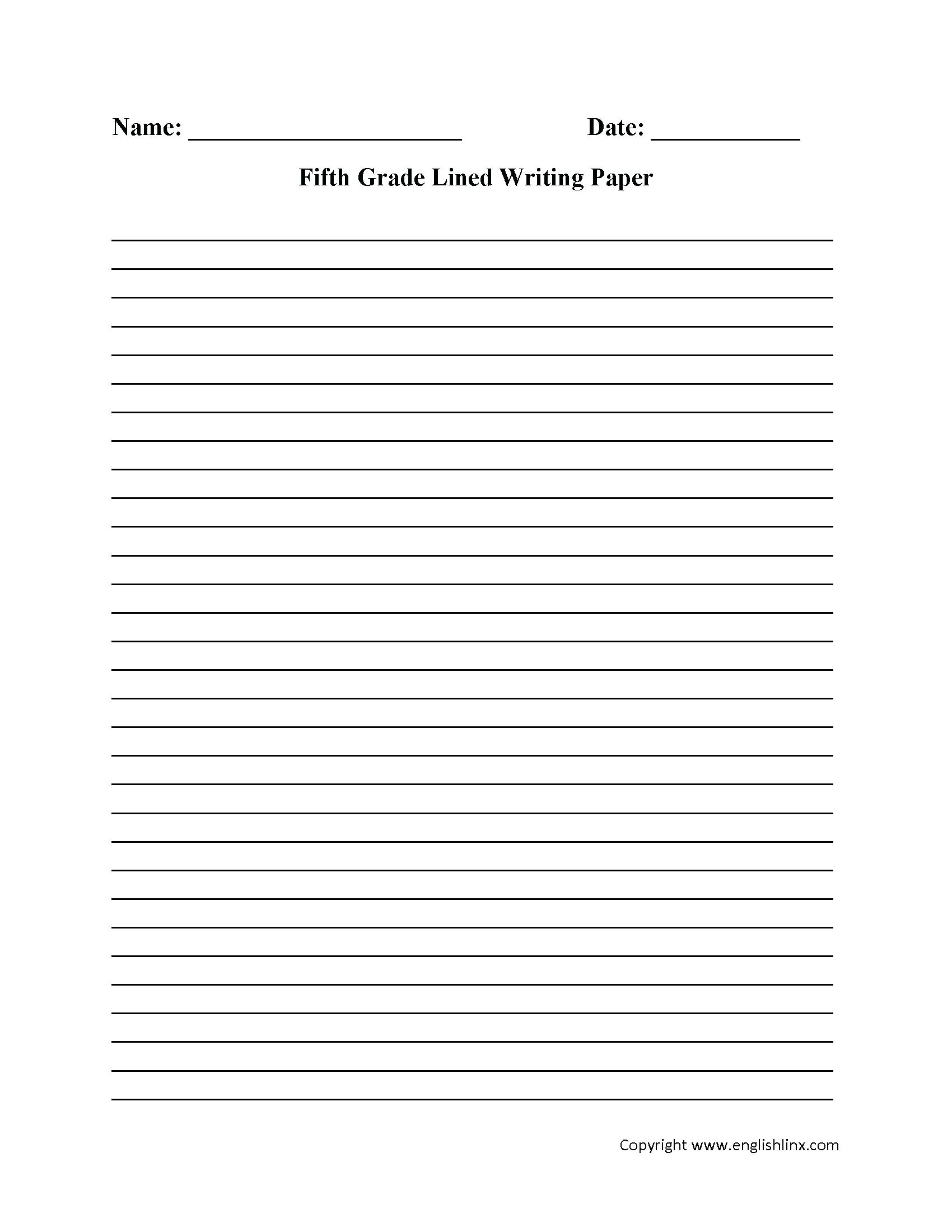 Printable Practice Writing Sheets