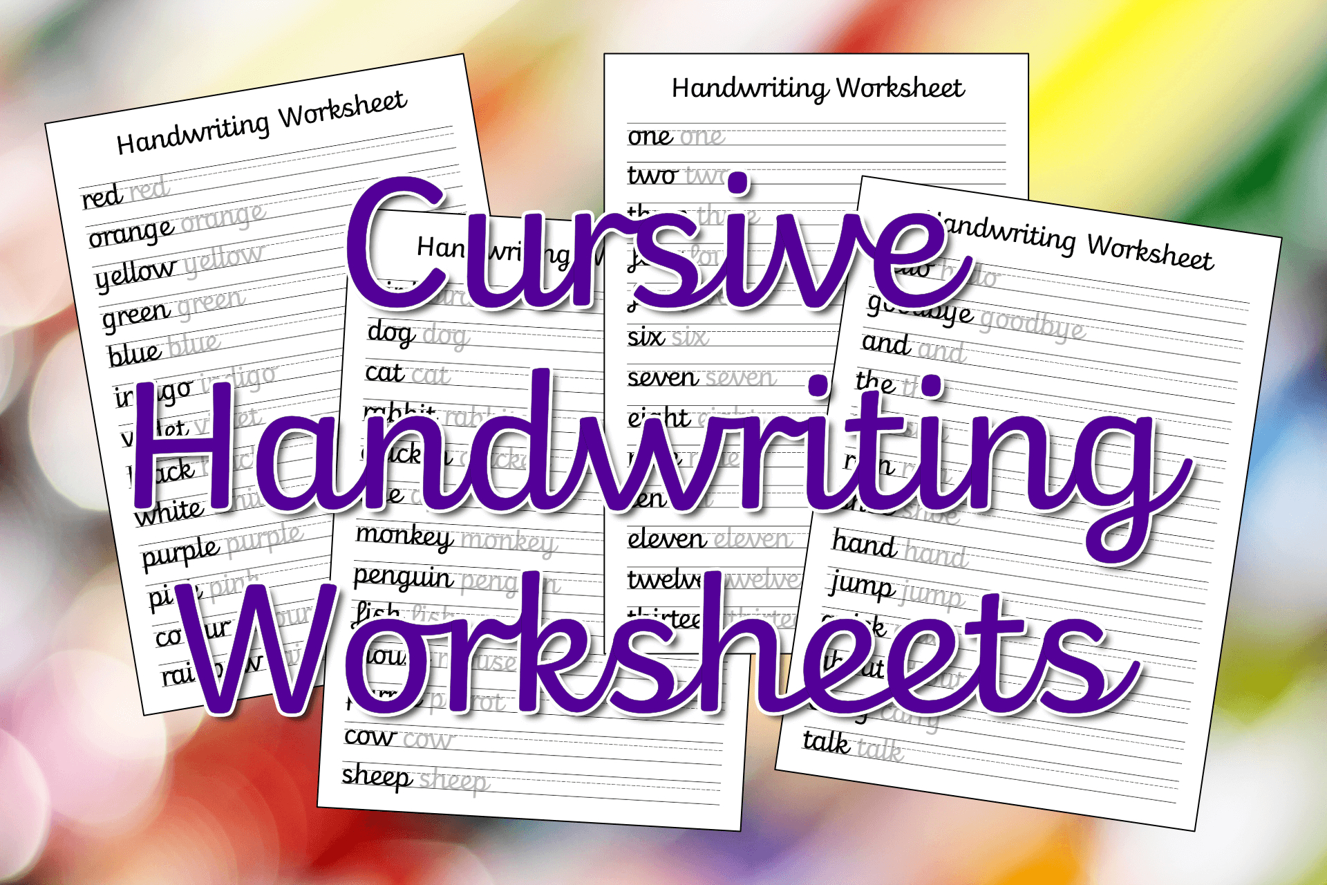 Free Handwriting Worksheets For Preschool With