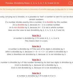 Divisibility Rules Worksheet   Printable Worksheets and Activities for  Teachers [ 900 x 1440 Pixel ]