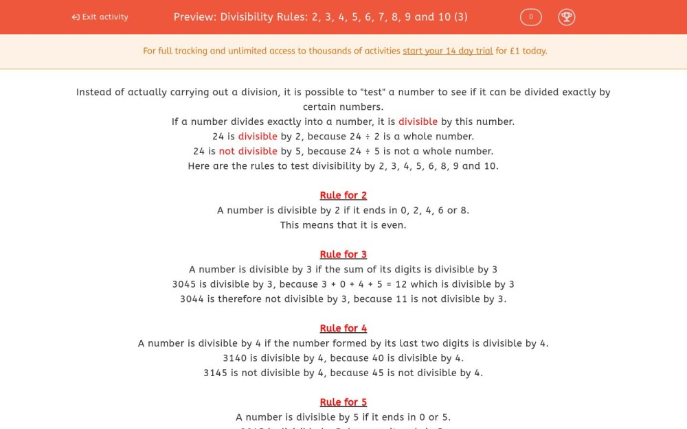 medium resolution of Divisibility Rules Worksheet   Printable Worksheets and Activities for  Teachers