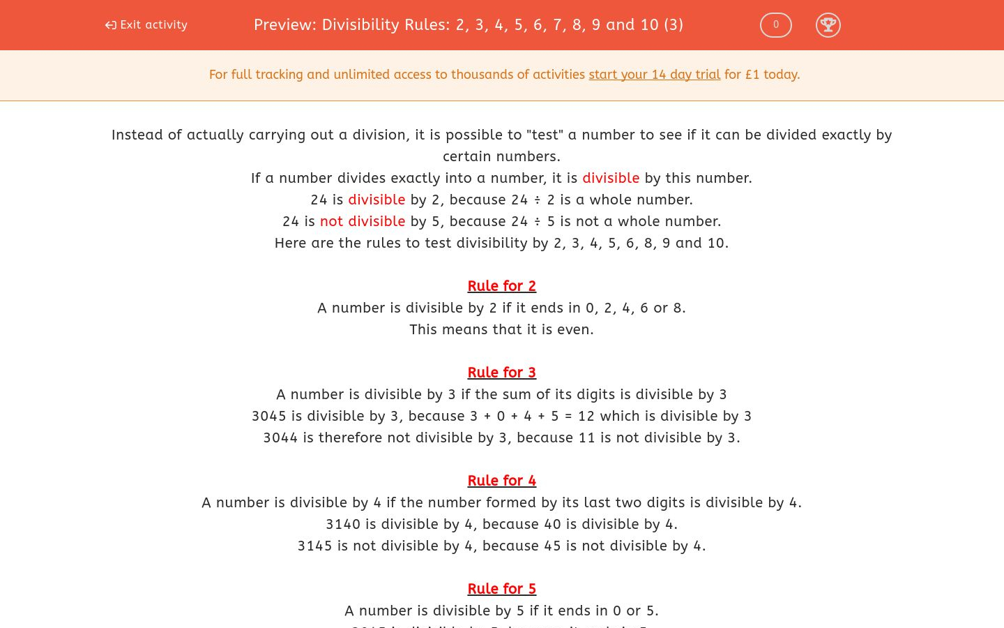 hight resolution of Divisibility Rules Worksheet   Printable Worksheets and Activities for  Teachers