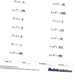 Base And Exponent Worksheet   Printable Worksheets and Activities for  Teachers [ 1440 x 1440 Pixel ]