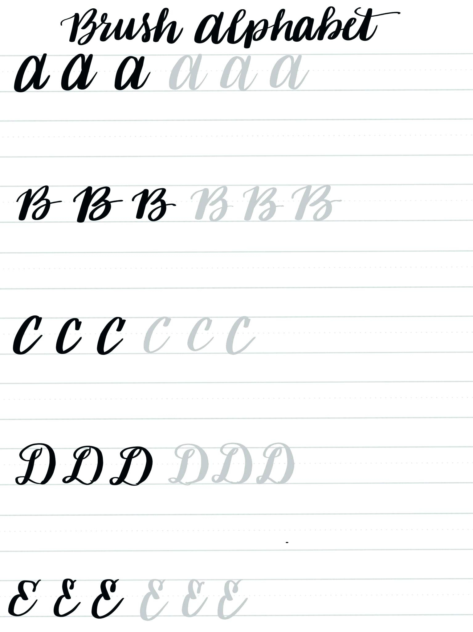 Printable Calligraphy Practice Worksheets