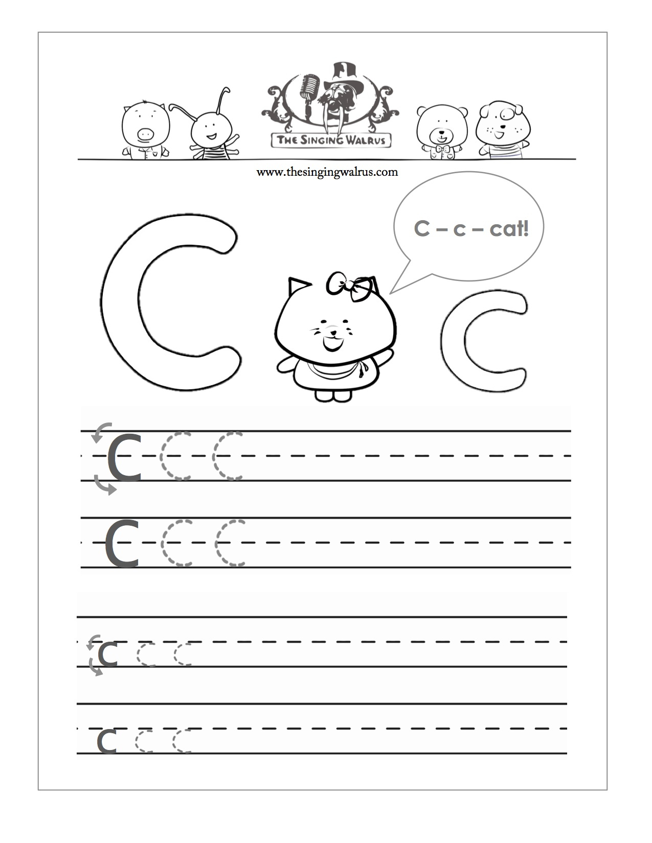 Letters Practice Sheets