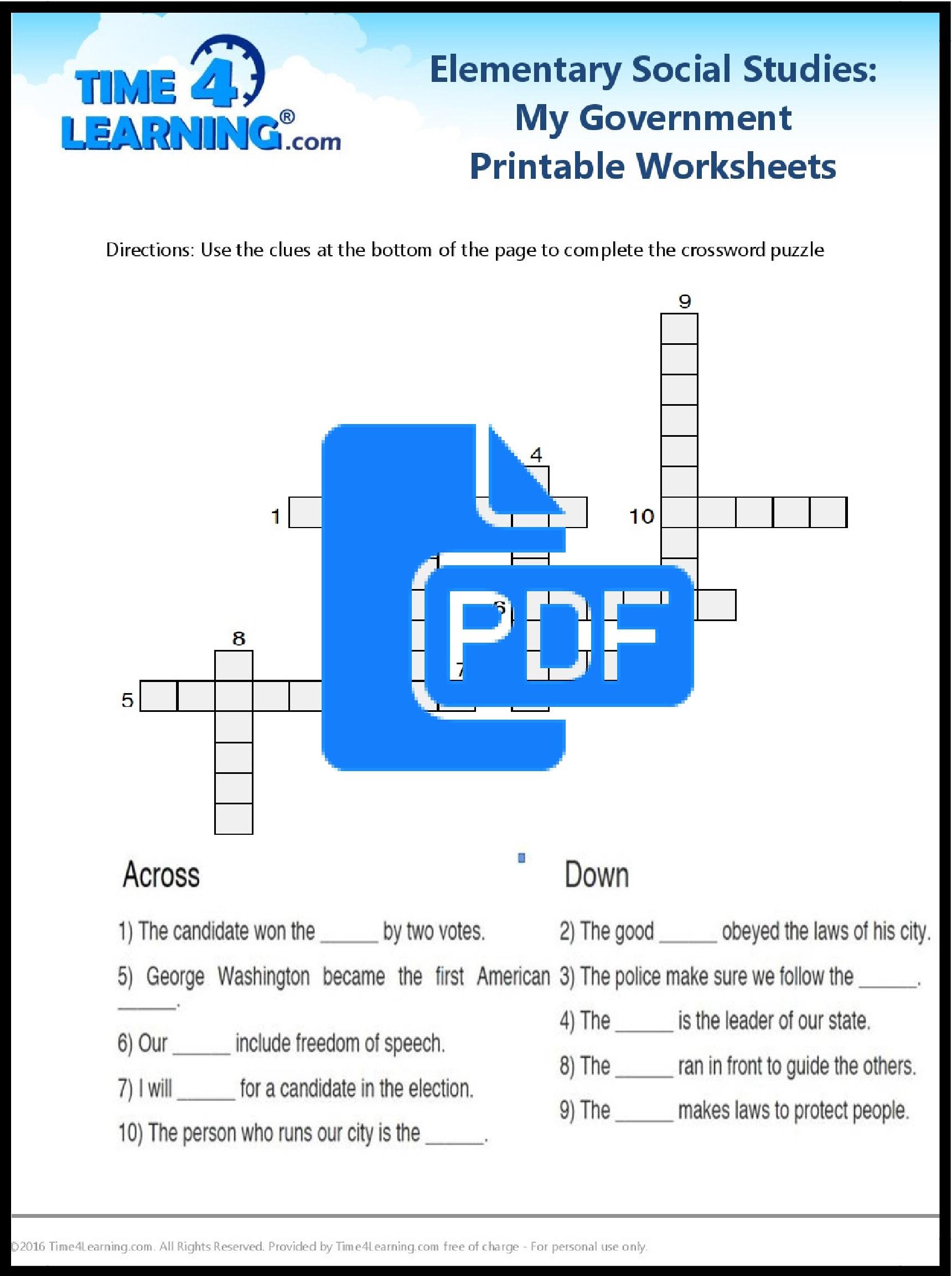 Printable Social Stu S Worksheets 8th Grade