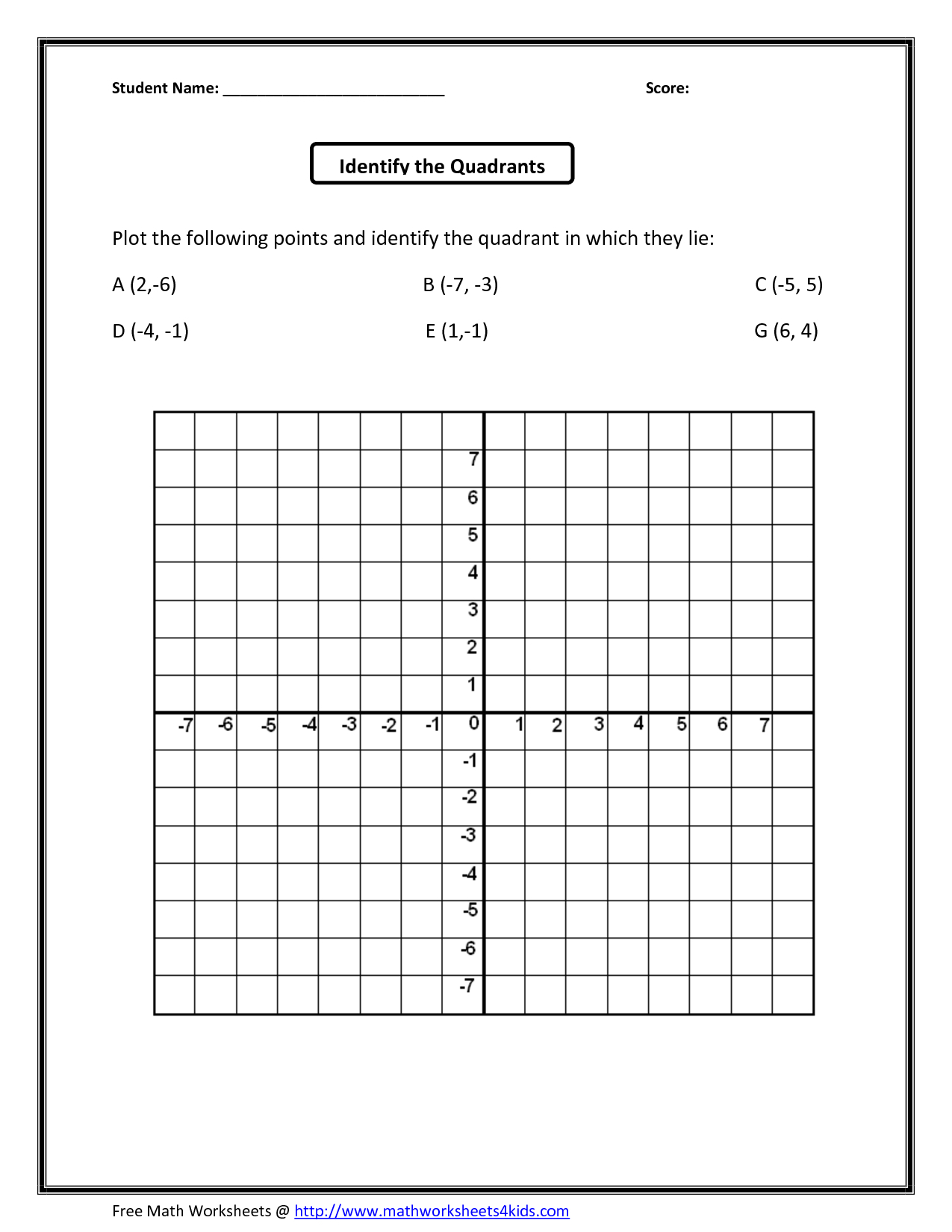 Math Coordinates Worksheets Worksheets For Coordinate Grid