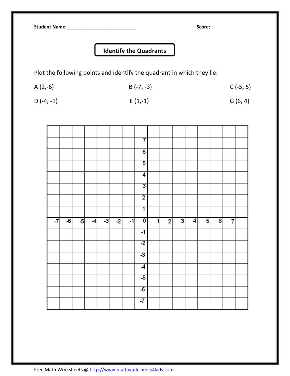 medium resolution of Coordinate Grid Mystery Worksheets   Printable Worksheets and Activities  for Teachers