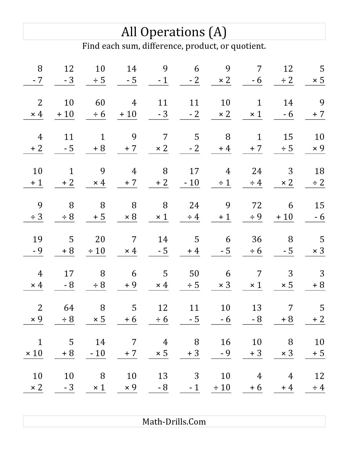 Touchpoint Math Worksheets Printable