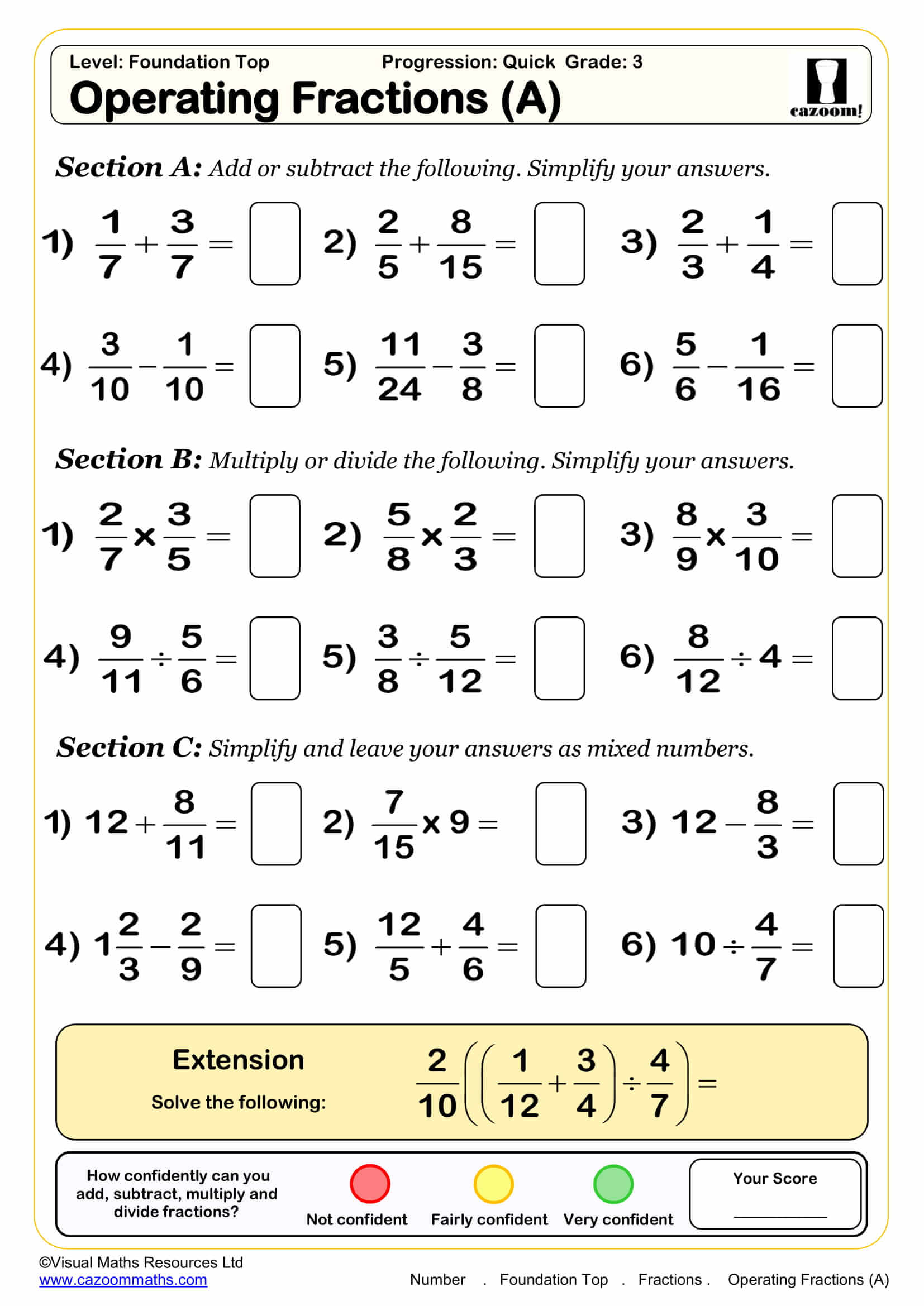 Key Stage 1 Maths Printable Worksheets