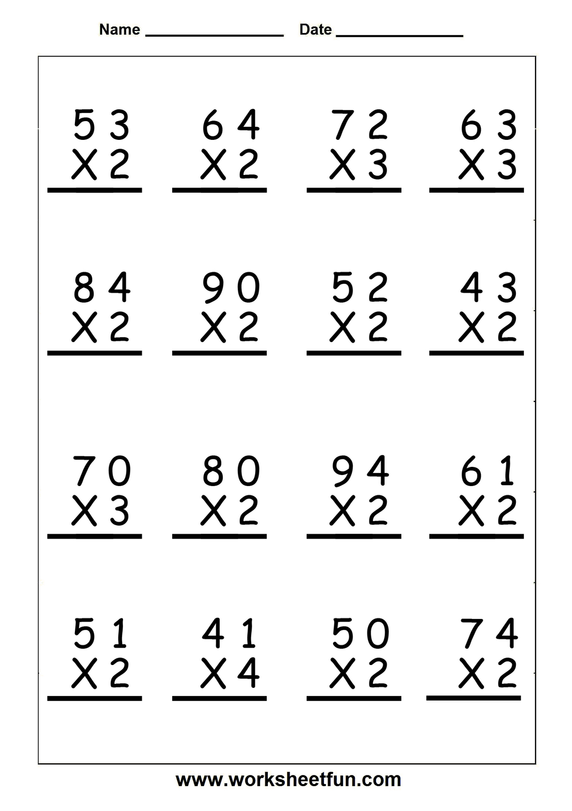 hight resolution of 5 Minute Multiplication Worksheets   Printable Worksheets and Activities  for Teachers
