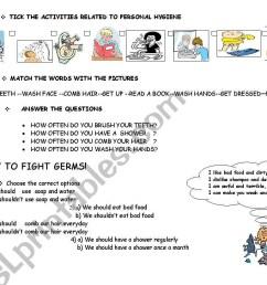 Hygiene Lesson Personal Plan Printable Worksheets   Printable Worksheets  and Activities for Teachers [ 821 x 1169 Pixel ]