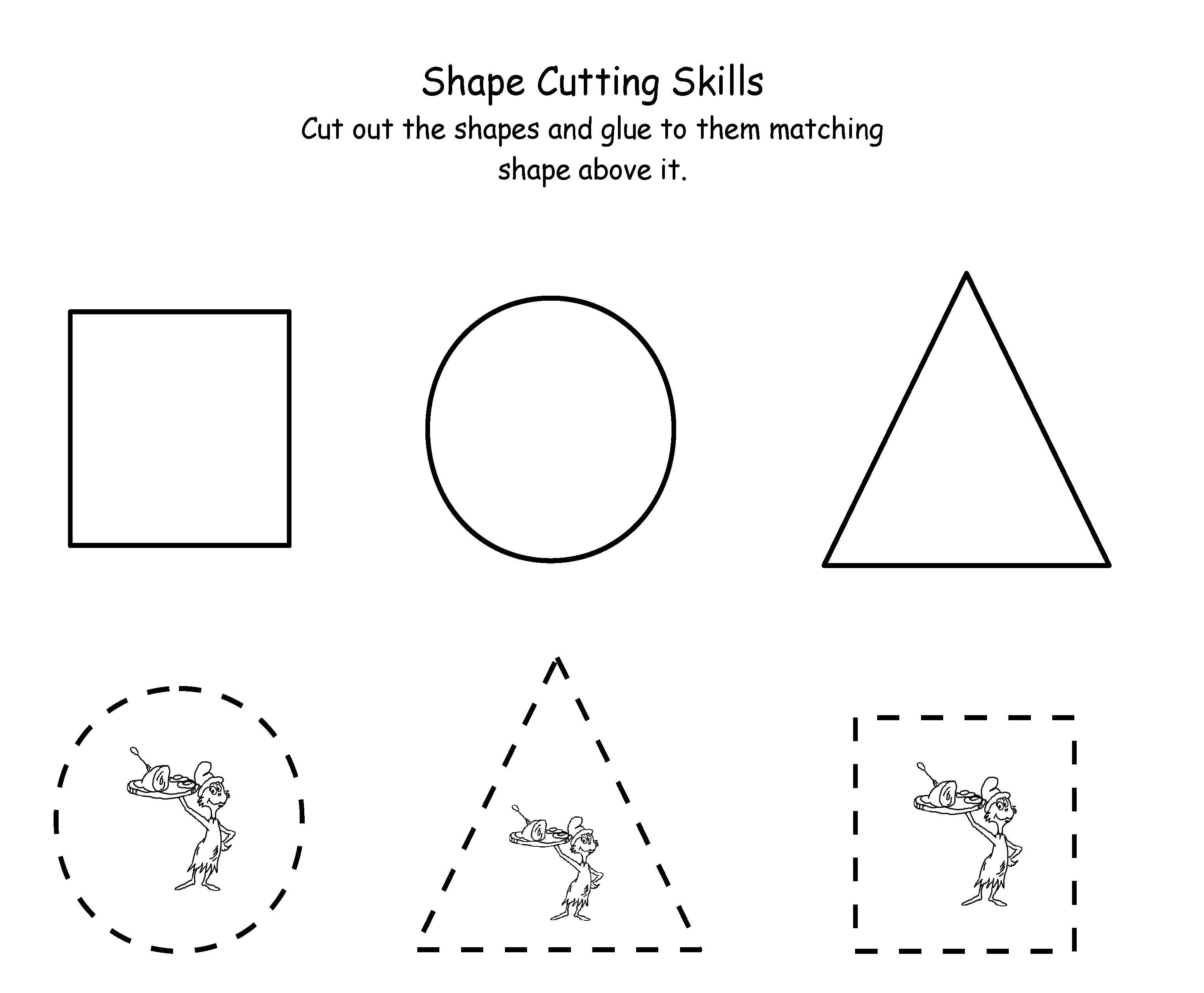 Tracing Shape Tracing Preschool Free Printable