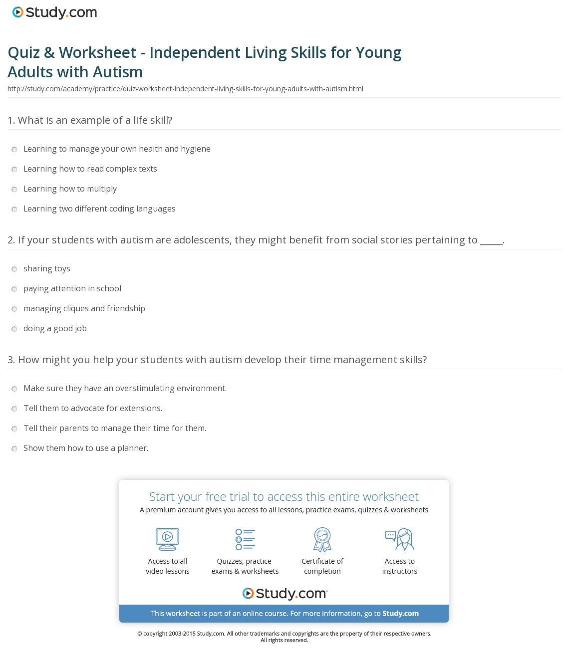 Amusing Empoweredthem Life Skills Worksheets Related To