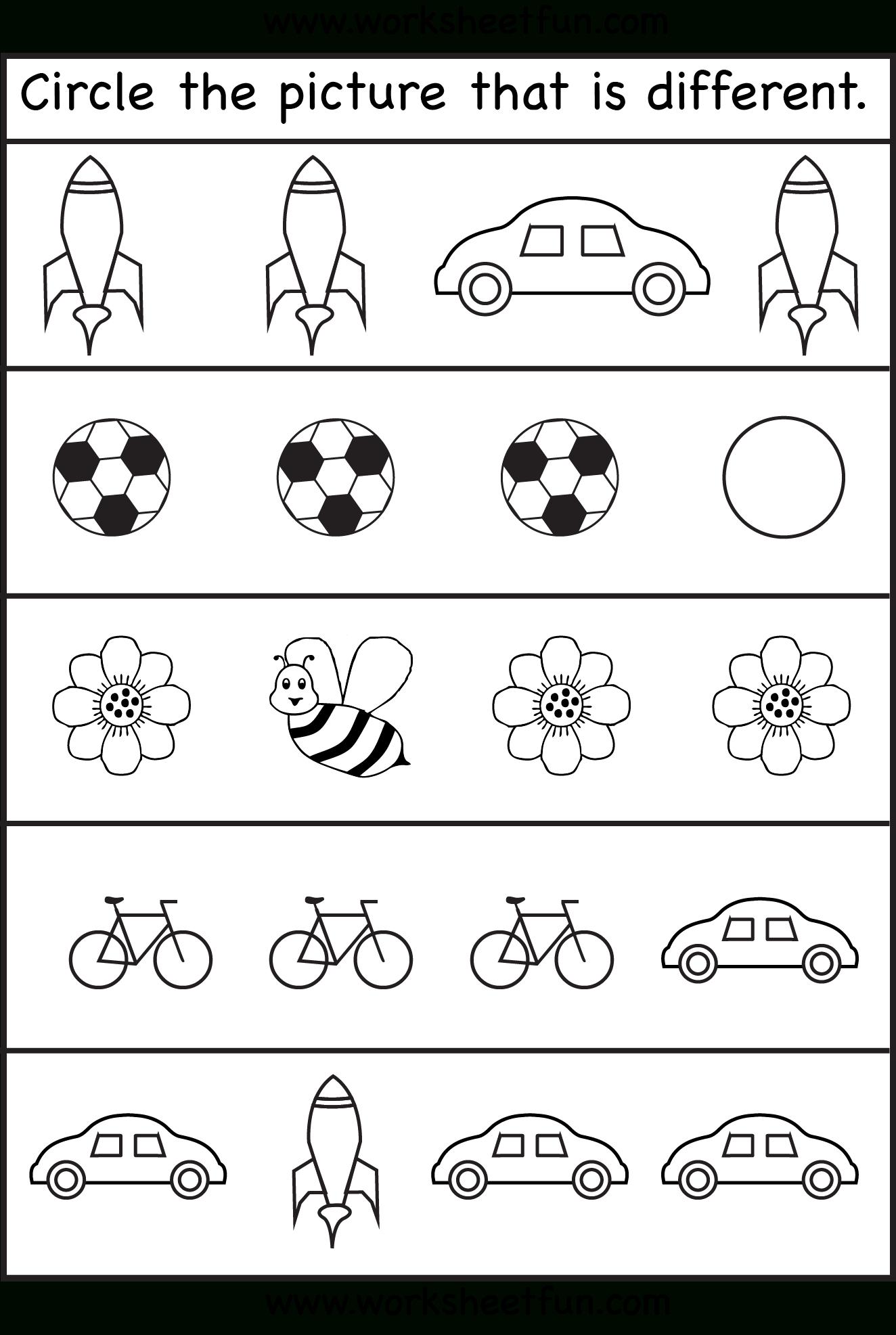 Same Or Different Worksheets For Toddler